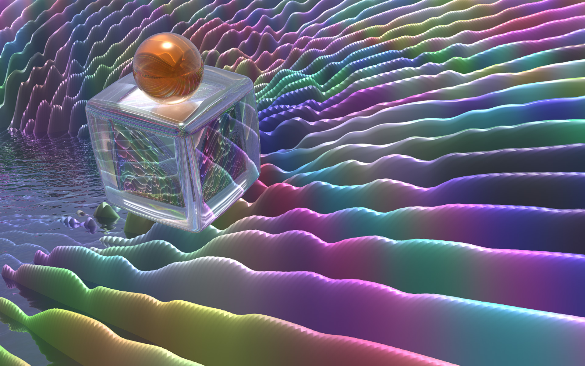 Desktop themes fractal gallery posted glass